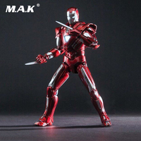 1:12 Metal Diecast Iron Man MK33 Centurion Figure Model Doll Light Action Figure for Fans Collection Gift