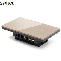 SWILET High Level 120 Type Two Way Sensor Touch Switch 110V 240V Luxury Crystal Glass Panel