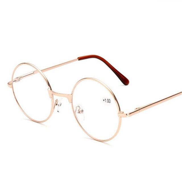 90808954afb UVLAIK Metal Round Frame Reading Glasses Harry Potter Retro Men Women  Mirror Glasses Personalized Presbyopic Spetascle + 100