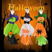 1Pc Halloween Party Decoration Horror Ghost Kids Trick Hanging Garland Decoration Witches Pendant Props Decoration Hanging Ghost