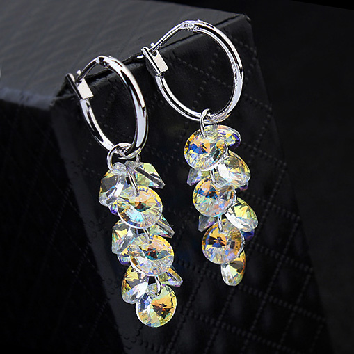 Elegant Charm Drop Earrings For Women Crystals From Swarovski Wedding Accessories Fashion Jewelry In On