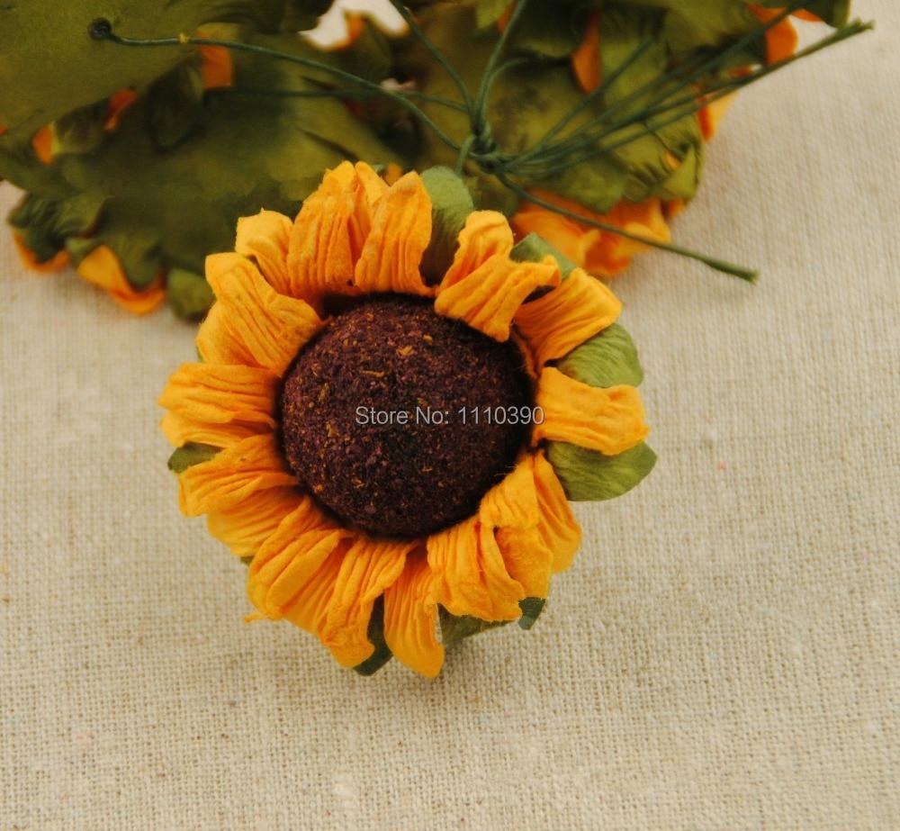 Artificial Sunflowers Flower Bouquetsfake Sunflowerstissue Paper