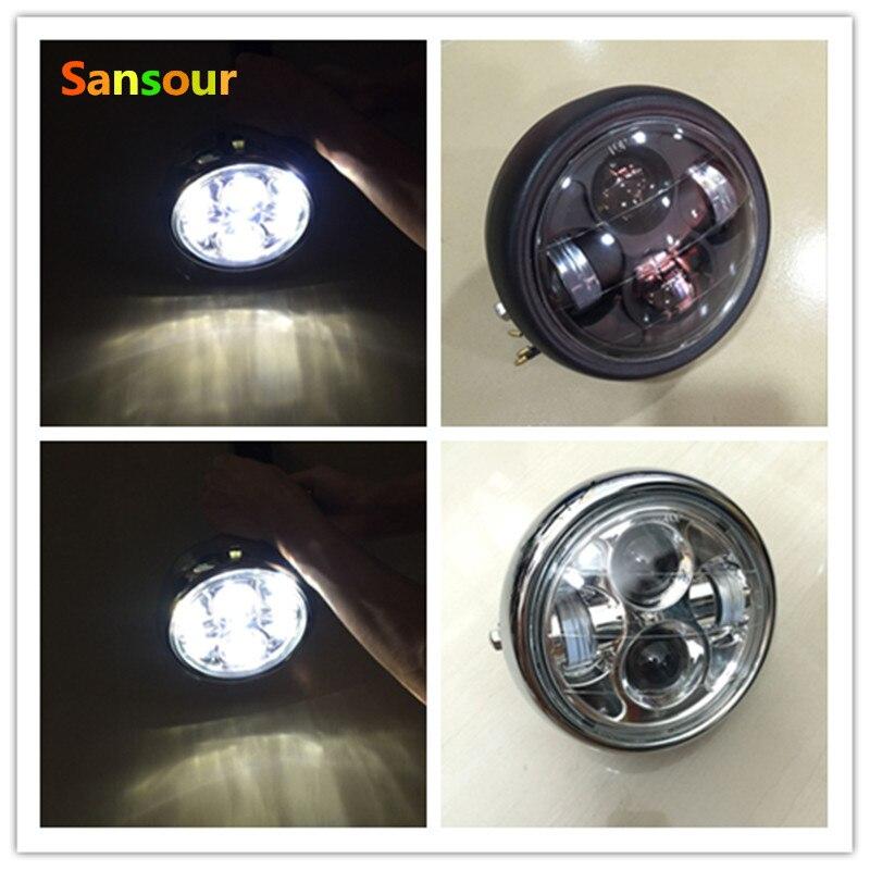 Sansour Moto LED Phare CR-EE LED Puces U5 Étanche Conduite Brouillard Spot Lampe Moto Accessoires