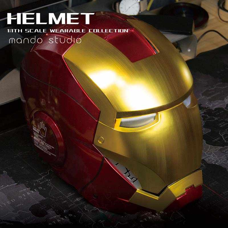 1:1 Scale Wearable Open Close Iron Man MK7 Helmet Roan Toys Cosplay Collectable