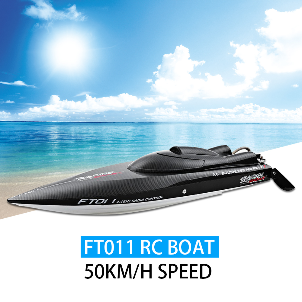High Speech Fei Lun FT011 RC Boat 50km/h Speed with Brushless Motor Built-in Water Cooling System Professional Racing RC Boat Клейкая лента