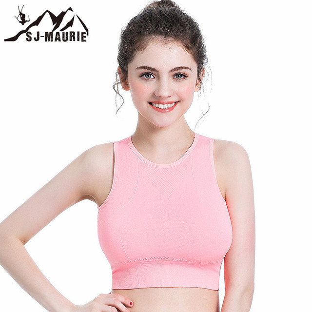 b24080d7dcc55 5 Colors Women Sports Bras Athletic Gym Running Bra Solid Haut Femme Padded  Shockproof Fitness Yoga Sport Tops Vest