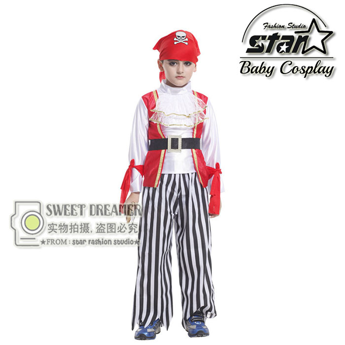 Boys Pirate Costume Kids Halloween Carnival Costume Caribbean Costumes For Boys Kids Suit Set For Boys Disguise Boy Cosplay halloween costumes for children boys kids cosplay costume fantasia disfraces game uniforms kids clothes set