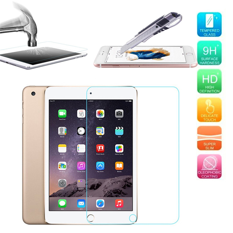 Hot 9H Ultrathin Tempered Glass For iPad mini 4 Screen Protector Explosion-proof Transparent Cases Cover Film Free Shipping