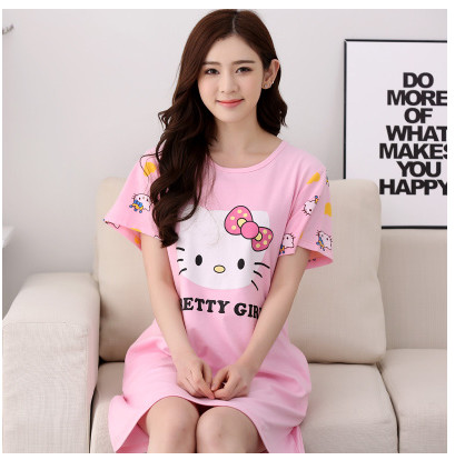 Cotton 2016 Women Loose   Nightgowns     Sleepshirts   Sleepwear Cute Girl's Underwear Nightdress Sleep Lounge Womens Nightwear AW7648