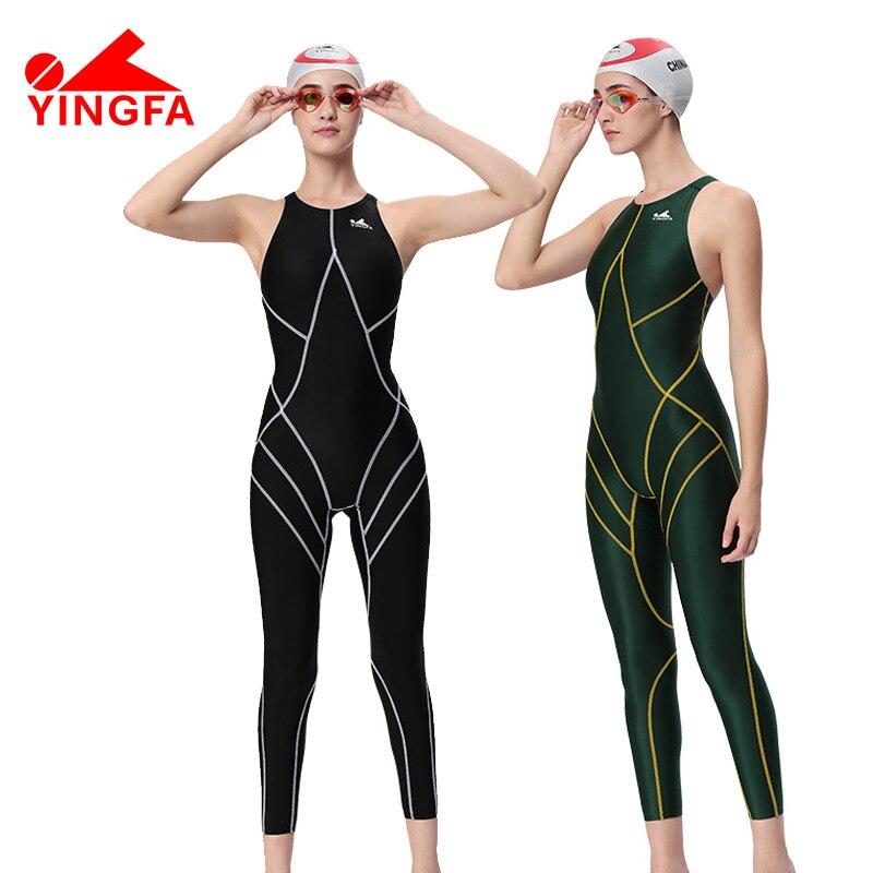41463c8704cf ¡Venta caliente! Yingfa impermeable mujeres spandex traje de cuerpo  completo de natación para mujeres LICRA trajes de cuerpo hombres