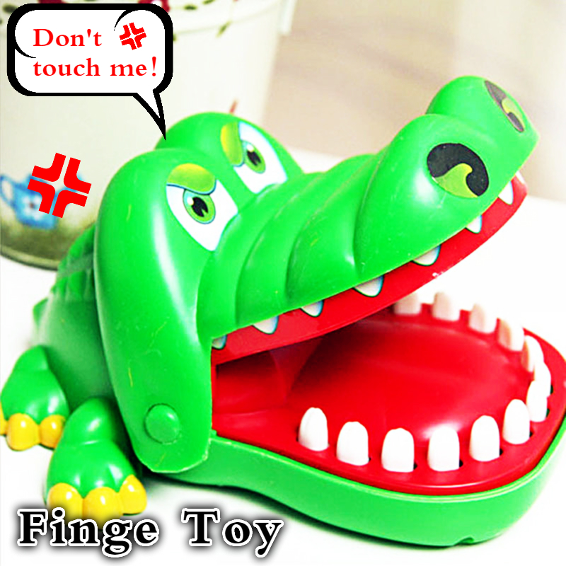 Hot Sell Creative Horror Jokes toy Mouth Tooth Alligator Hand Children's Toys Family Games Kids Biting Hand Crocodile Game LB