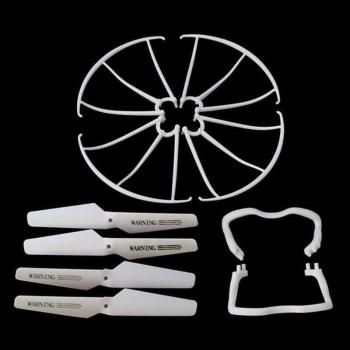 Lightweight Drone Accessories 4 pcs Blade/Tripod/Protection ring Main Propeller Replacement Spare Parts for Syma X5 X5C 1