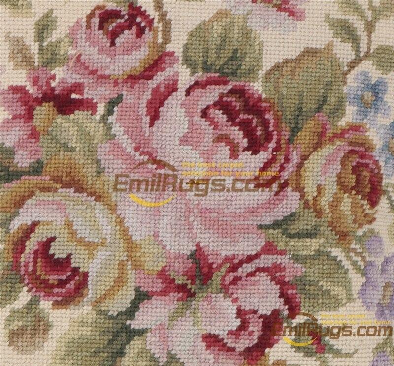 Needlepoint de lã decorativo sofá throw decoração interior almofada quadrada lã aubussion praça capa de almofada - 2