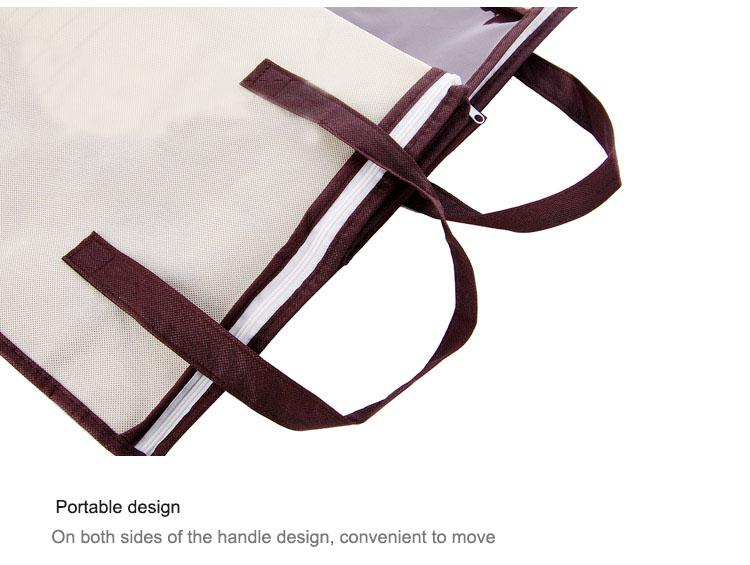 2018 new Non-woven Portable Clothes Storage Bag Organizer 45.5*51*29cm Folding Closet Organizer For Pillow Quilt Blanket Bedding 20