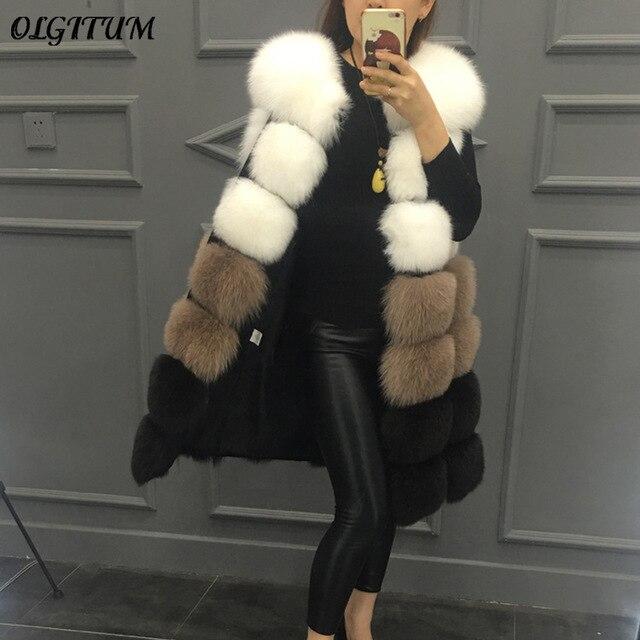 Winter Women s Fur Vest Coat Warm long Faux Fur Coat Autumn Luxury Faux Fur Thick