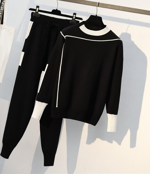 5d45787d854 2 TWO PIECE SET Tracksuit Plus Size Joggers Pants Track Suits Leisure  Sweatsuits For Women Clothing Costumes Autumn Outfit