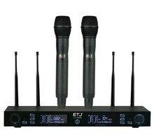 O envio gratuito de 100 Canais de Freqüência Selecionáveis LX-8006 Concerto Vocal Perfeito para a Fase 2 canais Sistema de Microfone Sem Fio