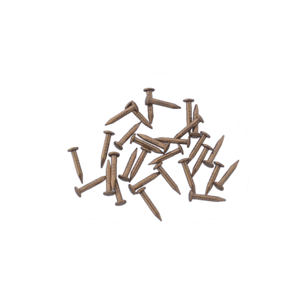 15x1.5mm  Antique Pure Copper Screw Nail with Washer Head Pack of 50 Black