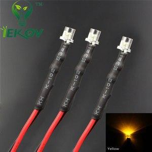 Image 5 - 20pcs LED 3mm LED DIODE 12V Pre Wired 12v DC Flat top Emitting Diodes Wide Angle 20CM DIY