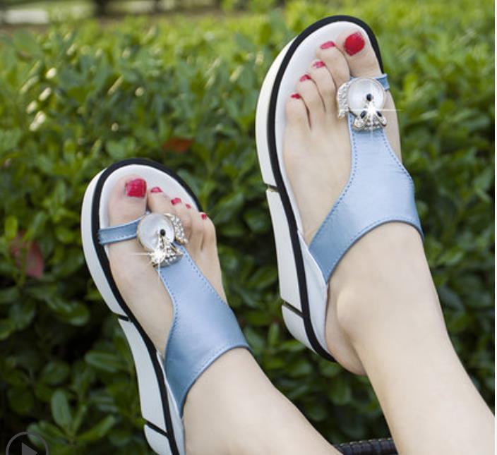 blanco azul Cuña Moda Sandalias azul Cielo Tacón Cuero Nuevo El Con Verano 2019 De rosado Negro xnPwaYzpZq