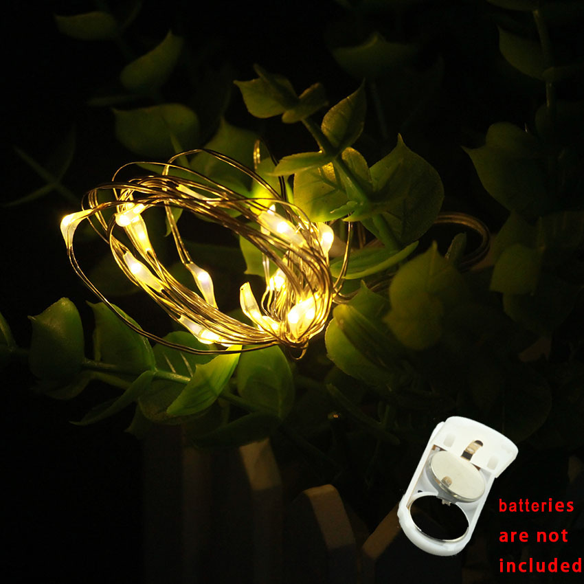 1pcs 1/2/3m <font><b>10</b></font>/20/30led garland on CR2032 batteries powered fairy <font><b>led</b></font> <font><b>lights</b></font> string for New year Christmas livingroom decoration image