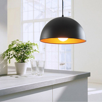 Contracted style of Europe type droplight, black white aluminium cord pendant light for hanging type restaurant