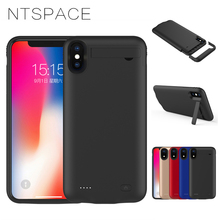 NTSPACE 4200mAh Power Bank For iPhone XR Battery Charging Case 5200mAh Portable Charger Cover XS Max