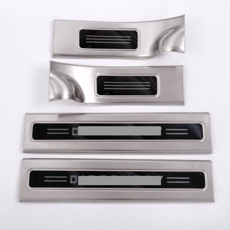 304 Stainless Inside Door Sill Scuff Threshold Protector Plate Cover Trim For Land Rover Discovery 5 LR5 2017 Set of 4pcs руководящий насос range rover land rover 4 0 4 6 1999 2002 p38 oem qvb000050