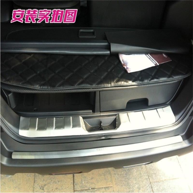 ФОТО For Nissan X-Trail XTrail 2008-2012 2013 Stainless steel Rear Bumper interior Trunk Threshold Door Sill Protector Cover Trim