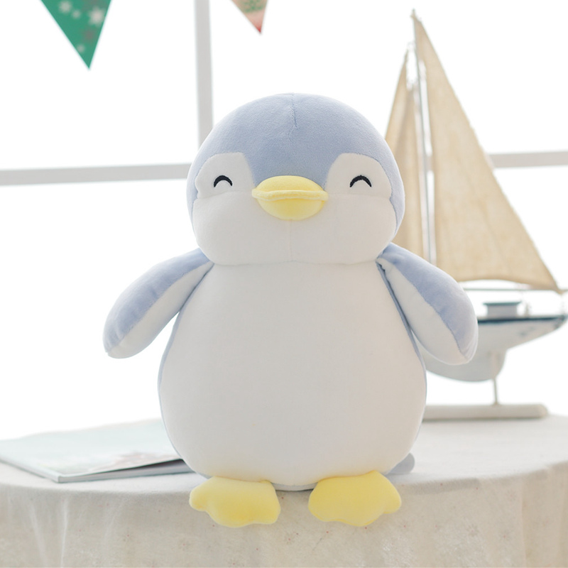 Nooer Soft Penguin Shark Stuffed Plush Doll Kids Toy Cute Penguin Plush Toy Christmas Birthday Gift For Girlfriend Children Kids 1pc 22cm cute stuffed dog with bell plush toy soft kawaii puppy kids toy cartoon animal doll birthday gift for girls children