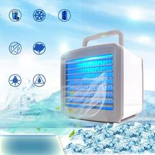 Mini Portable Air Conditioner Dormitory Air-conditioning Fan 7 Colors Light Desktop Air Cooling Fan Air Cooler Fan For Office Ho