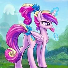 Diy 5d Diamante Pintura Desenho Animado Princesa Unicornio Ponei
