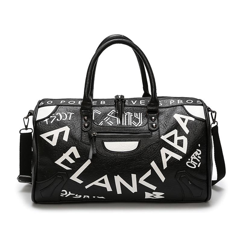2018 sac de voyage pour hommes grande capacité dames bagages voyage sac de voyage en nylon sac étanche punk lettre amant sac de voyage