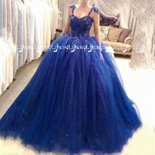 Lisong Princess Puffy Sleeveless Prom Dress Ball Gowns