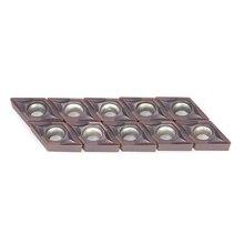 10 шт./кор. карбидные вставки резак Токарные пластины инструмент DCMT0702 YBC205 CNC лезвия набор для токарного Расточного инструмента