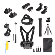 for gopro accessories set go pro hero 6 5 4 3 2 1 kit mount SJCAM SJ4000 xiaomi yi 4k eken h9