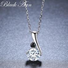 Романтическое поступление, 925 пробы серебряные ювелирные изделия, модные ожерелья и подвески для помолвки для женщин, Bijoux Femme K030