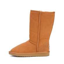 Genuine leather Fur Snow boots women Top High quality Australia Boots  Winter Boots for women Warm Botas Mujer