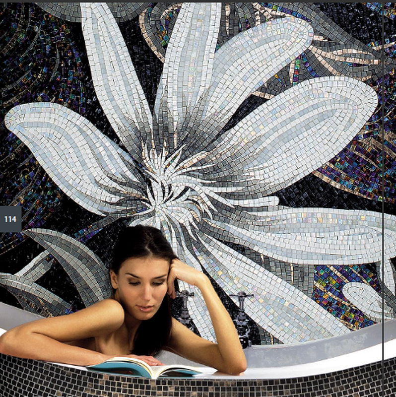 Fireworks home decorative flower wall mural mosaic pattern picture glass art tiles B4014 mural wallpapers tiles home decor photo background tiles photography color lines of glass mosaic hotel bathroom large wall i2029