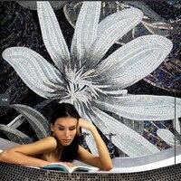 Blue Round Mosaic Tile Art Bathroom Wall Tile B4041