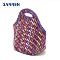 SANNEN Neoprene Lunchbox lancheira bolsa de franja Thermal Bag With Zipper bolsa termica Lunch Bags Insulation for Women Tote