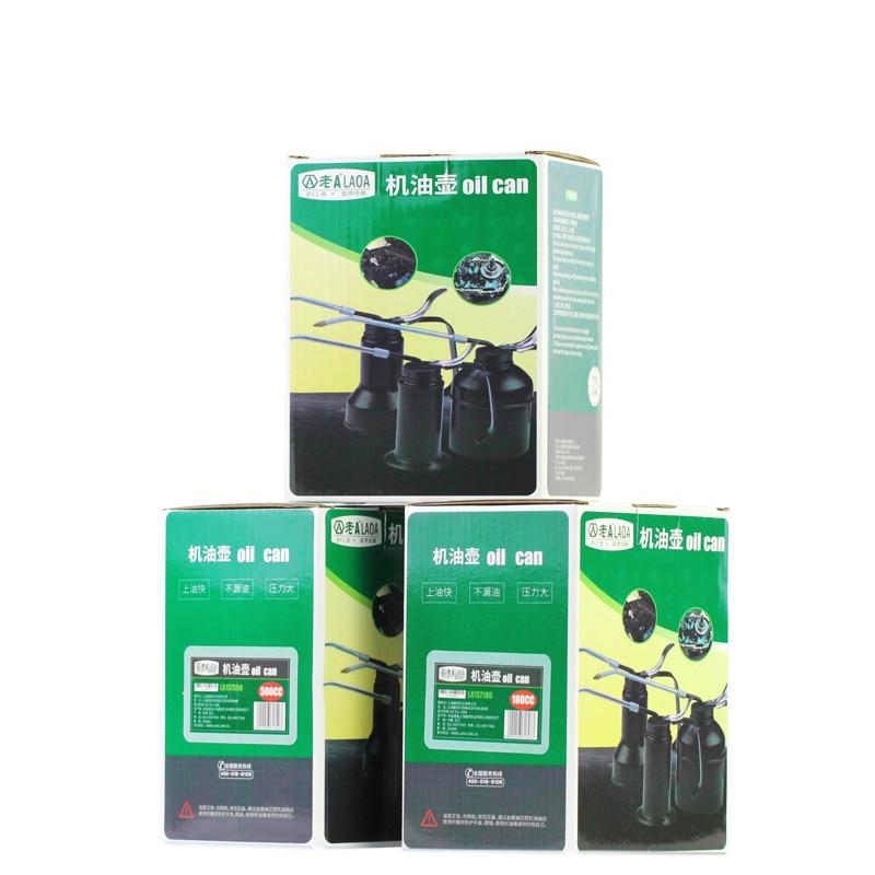 Купить с кэшбэком LAOA HVLP Oiler 180cc/300cc/500cc Machine Oiler Pump High Pressure Long Beak Oil Can Pot Hand Tools for Lubricating Airbrush