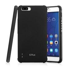 Для Huawei Honor 6 Plus Футляр Гибкая силикагель задняя крышка сотового телефона Корпус принципиально Coque Honor 6 плюс