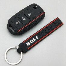 Защитный чехол для автомобильного ключа для Volkswagen polo passat b5 golf 4 5 6 MK5 MK6 Eos Bora Beetle TSI дизайн силиконовый чехол