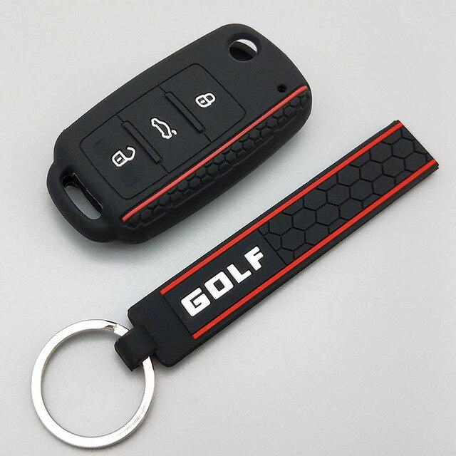 Chave do carro proteger escudo para volkswagen polo passat b5 golf 4 5 6 mk5 mk6 eos bora beetle tsi novo design capa de silicone