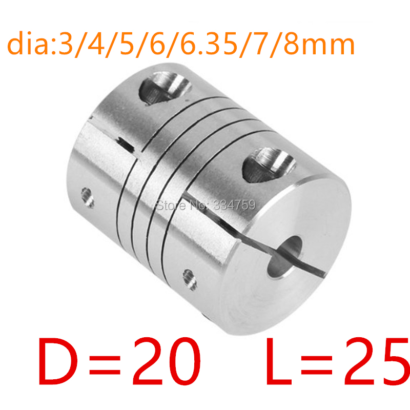 3mm 4mm 8mm Flexible Motor Wellenkupplung Koppler für WRDE 6mm 7mm 5mm