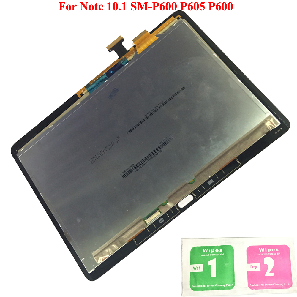 ЖК-дисплей Дисплей Сенсорный экран планшета датчики Полное собрание Панель Замена для samsung GALAXY Note 10,1 SM-P600 P605 P600
