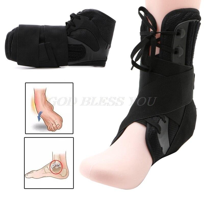 S/m/l tamanho tornozelo cinta suporte esportes ajustável tornozelo cintas esportes suporte ajustável pé ortose estabilizador tornozelo protetor
