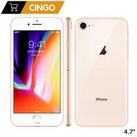 Apple-iPhone 8 Original, 2GB RAM, 64GB/256GB, Hexa-core, IOS, 3D, Touch ID, cámara de 12.0MP, pantalla de 4,7 pulgadas, reconocimiento de huella dactilar, 1821mAh