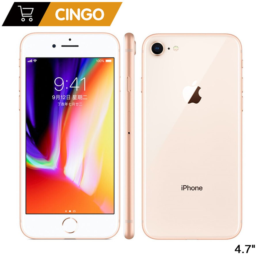 D'origine Apple iPhone 8 2 GB RAM 64 GB/256 GB Hexa-core IOS 3D Tactile ID LTE 12.0MP Caméra 4.7 pouces Apple D'empreintes Digitales 1821 mAh